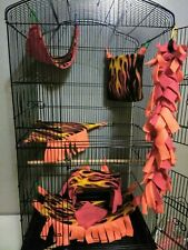Cage Set, Flames, Sugar Gliders, Flying Squirrel, rat, Stitch Free, Small Specie