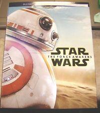 BB8 Star Wars Force Awaken Wal-Mart Limited Edition Blu-Ray Slipcover No Movies