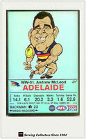 2009 AFL Teamcoach Trading Card Magic Wild Card MW1 Andrew McLeod (Adelaide)
