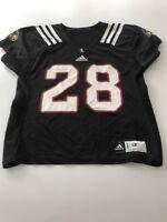 Game Worn Used Louisville Cardinals UL Football Jersey Adidas Size 48 #28