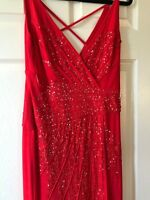 Class Roberto Cavalli Red Ball Gown Dress, Evening,  Size 42 USA size 8