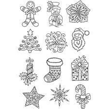 Mini conjunto de sello de Navidad imágenes claras:: árbol de Vela Regalo estrella sellos