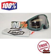 100% PERCENT BRAND STRATA GOGGLES MX ATV MOTOCROSS MOTO HUNTSITAN CAMO W/ MIRROR