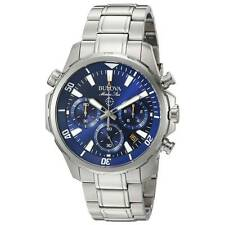 Bulova Men's 96B256 Marine Star Blue Dial Chronograph Stainless Steel Watch