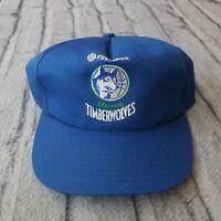 Vintage 90s Minnesota Timberwolves Snapback Hat Cap Game Promo