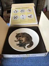 Goebel 1980 Six Edition Mothers Series Plate In Bas Relief Deer & Fawn Box