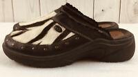 Romika Black Zebra Print Clogs Size EUR 40 US Size 9.5 Wedge Heel Comfort Shoes