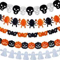 Halloween papier guirlande décoration citrouille chauve-souris araignée