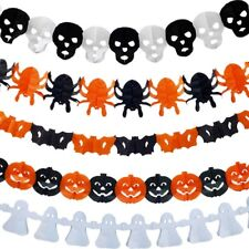 Halloween Paper Chain Garland Decoration Pumpkin Bat Ghost Spider Skull Shape BH