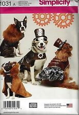 NEW Simplicity 1031 S-L Pattern Dress Up Dog Costumes fur capes hats ruffles