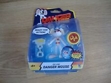 """JAZWARES 3.5"""" TALL DANGER MOUSE WITH ZIP WIRE KIT - NEW IN PACKET"""