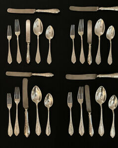 LOT of 36 Antique RARE Norblin et Cie NorblinisA Silver ware Flatware Set Warsaw
