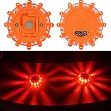 Flashing Roadside Emergency Disc Beacon Slim LED Flare Magnetic Base 3 Pcs