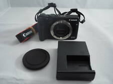 "Excellent Canon EOS M3 24.2"" Mirrorless Camera Body Charger Battery Black"