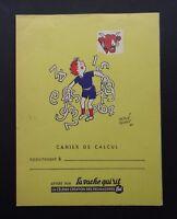 Protège cahier publicitaire LA VACHE QUI RIT par Hervé Baille Rabier Bonbel