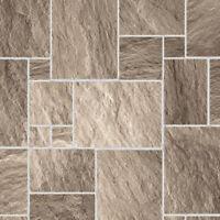 1/12 Dolls House Dark Stone Floor Tiles Gloss Card A3 Flooring Sheet DIY434B