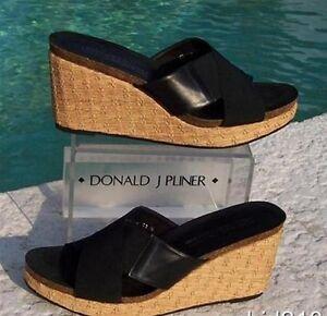 Donald Pliner COUTURE Basic Elastic Leather Platform Shoe New Sz 11 12 $220 NIB