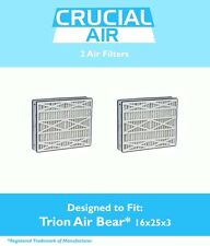 2 Replacements Trion 16x25x3 Merv 8 Air Filter Part # 255649-101