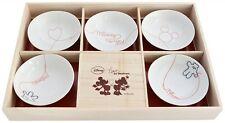 Disney Mickey Love of Destiny Small Bowl Plate Set Free Shipping Japan