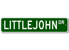 LITTLEJOHN Street Sign - Personalized Last Name Sign