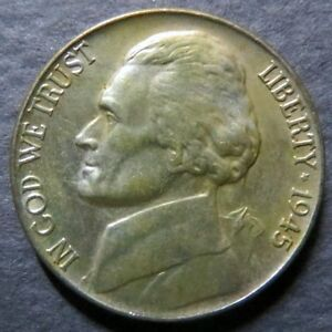 *SILVER 1945-P  JEFFERSON NICKEL, Uncirculated WW II Philadelphia SILVER Mint #C