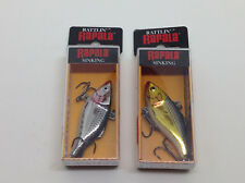 2 x Rapala Rattln Rap RNR 5 Lipless Fishing lures VMC Hooks Brand New in Box