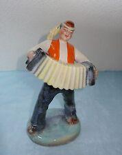 Keramikfigur: Musikant Zieharmonika - Urbach Ditmar Keramik