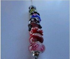 10X Assorted Colorful Glass Bead Charms Fits for Bracelets 5mm