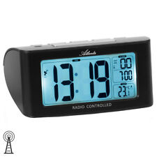 Atlanta 1813/7 Wecker Funk Funkwecker digital schwarz mit Snooze Digitalwecker
