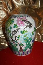 Oriental Home Porcelain Vase Flowers And Blackbirds (China)