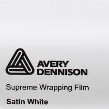 (24,34€/m²) Avery Supreme Wrapping Film Satin White Auto Folie 152cm