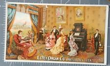Brattleboro Windham Vermont Estey Organ 1880s Advertising Victorian Trade Card