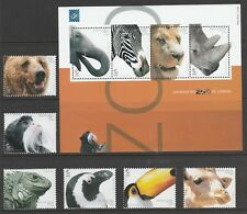 [Portugal 2001 – Animals at Lisbon Zoo] S. Sheet and set MNH