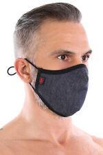 TOF Paris Protective Washable Denim Look Mens Face Mask + Removable Filter
