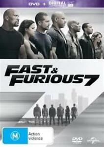 FAST & FURIOUS 7 Vin Diesel & Paul Walker DVD/ Ultraviolet NEW