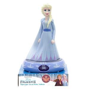 Disney Frozen Tragbar Nachtlicht 3D Elsa Figur Mädchen Nachttisch LED Lampe