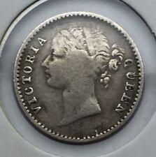 India Queen Victoria 1/4 Rupee 1840 #1150