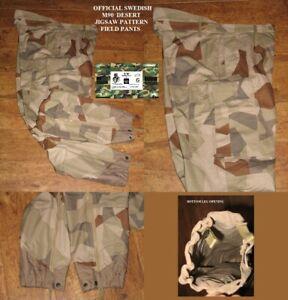 """Original Swedish M90 Desert Jig Saw Pattern Field Pants 190/95 38"""" W X 34"""" L"""