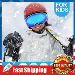 Ski Goggles for Kids Over Glasses Snow Sport Goggle Child Snowboarding Clear