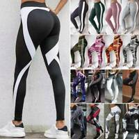 Womens High Waist Yoga Pants Push Up Leggings Sport Fitness Workout Gym Jogging