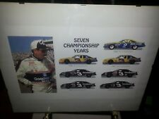 Dale Earnhardt Seven Championship Years 11 x 17 inch Framed Print