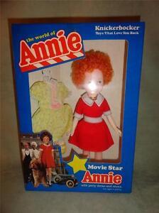 Vintage 1982 Knickerbocker Movie Star Annie Doll Shoes & Party Dress 3836 NIB NW