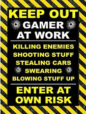 Xbox Playstaion Metal Sign Kids Bedroom Shed man cave Gaming Room Gamer At Work