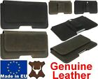 PIANO HANDMADE GENUINE LEATHER BELT MOUNTED HOLSTER POUCH CASE FOR MOBILE PHONES