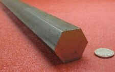 "12L14 Carbon Steel Hex Rod 1 1/4"" Hex x 3 Foot Length"