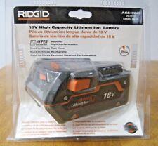 RIDGID 18V HIGH CAPACITY HYPER LITHIUM ION BATTERY AC840083