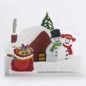 Craft Buddy DIY Crystal Art Kit 3D buildable Scene kit - Snowy Village - NEW