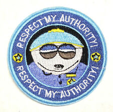 "South Park Cartman Respect My Authority Logo 3"" Patch- FREE S&H (SOPA-0001)"