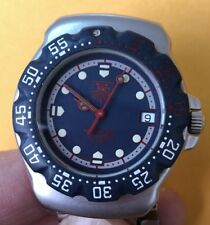 Authentic   Tag Heuer 200 M ,Professional Quartz /Blue Dial Diver Mid Size Watch