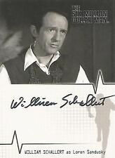 "Six Million Dollar Man - A9 William Schallert ""Loren Sandusky"" Autograph Card"